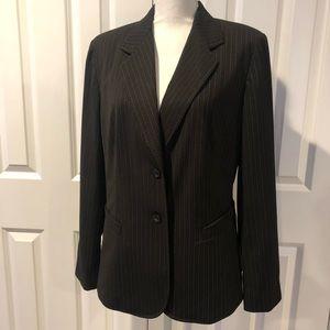 Worthington Black Pinstriped-2pc Skirt Suit